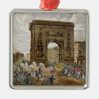 法皇のPius行列パリのVII メタルオーナメント