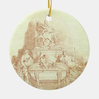 法皇のUrban墓Gianlor著VIII (1568-1644年) 陶器製丸型オーナメント