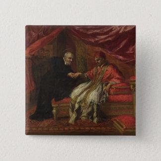 法皇を治しているClemente St.フィリッポNeri VIII 5.1cm 正方形バッジ