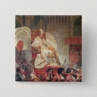法皇Sedia GestatoriaのセントピーターのVIII 5.1cm 正方形バッジ