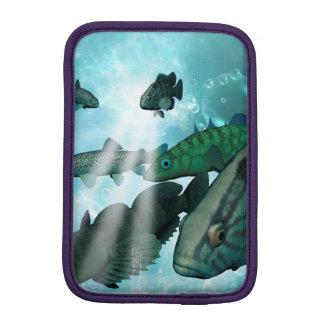 泡および照明効果の魚の群れ iPad MINIスリーブ