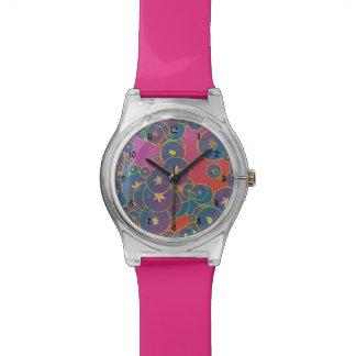 泡および葉 腕時計