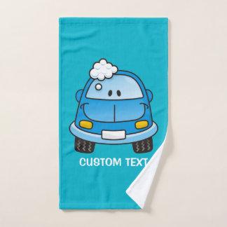 泡が付いている青い車 バスタオルセット