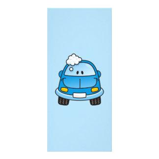 泡が付いている青い車 ラックカード