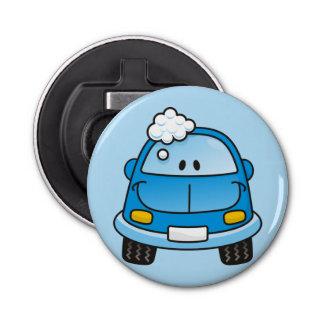 泡が付いている青い車 栓抜き