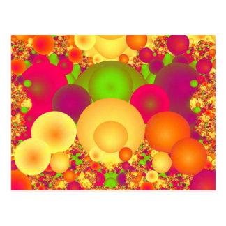 泡はカラフルの抽象芸術の罰金のフラクタルを冷却します ポストカード