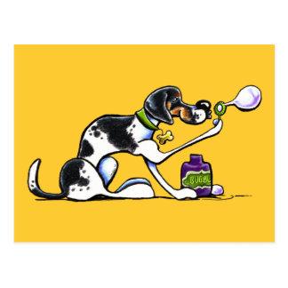 泡を吹いているアメリカ英語のFoxhound ポストカード