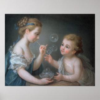 泡を吹いている子供 ポスター