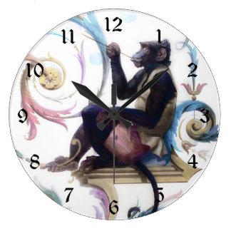 泡を吹いている猿 ラージ壁時計