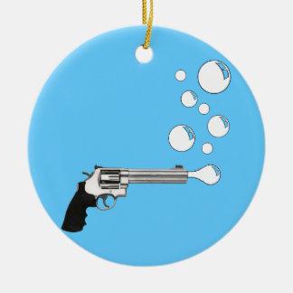 泡を吹く銃 セラミックオーナメント