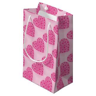 泡ピンクの雄鹿 スモールペーパーバッグ