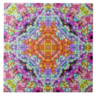 泡モザイクダイヤモンド星の曼荼羅のタイル タイル