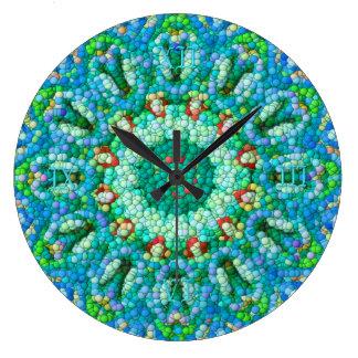 泡モザイク時計I 時計