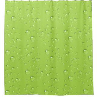 泡モノクロライムグリーンBBMX シャワーカーテン