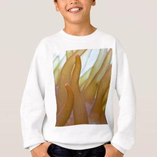 泡先端のアネモネのEntacmaeaのばら色のquadricolor スウェットシャツ