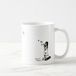 泡女の子のマグ コーヒーマグカップ