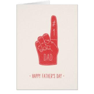 泡指の父の日カード-赤 カード