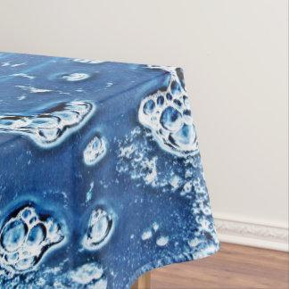 泡氷水の青の抽象芸術のテーブルクロス テーブルクロス