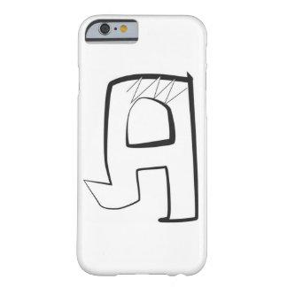 """泡落書きの角のスタイルの手紙""""A """" BARELY THERE iPhone 6 ケース"""