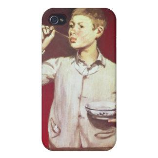 泡1867-69年を吹いている男の子 iPhone 4 COVER