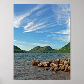 泡、アカディア国立公園、メイン ポスター