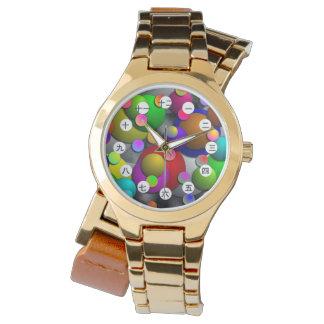 泡(中国人または日本人の顔)腕時計 腕時計