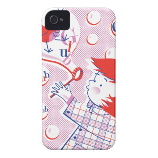 泡、女の子! ブラックベリーの箱 Case-Mate iPhone 4 ケース