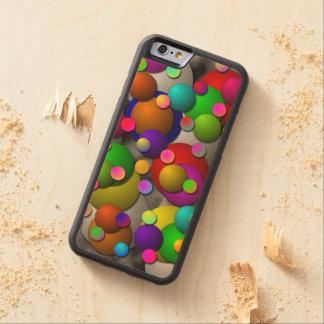 泡 CarvedメープルiPhone 6バンパーケース