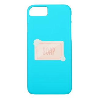 泡Q1Qが付いている石鹸のピンクの部分 iPhone 8/7ケース