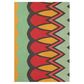 波および他の形パターン ウッドポスター