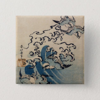 波および鳥、c.1825 缶バッジ