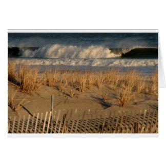 波が付いている海都市砂丘 カード