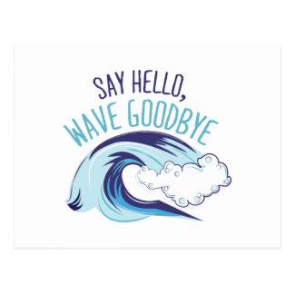 波さようなら ポストカード