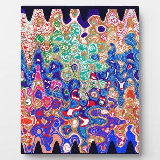 波のカラフルの芸術 フォトプラーク