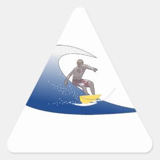 波のサーフィン 三角形シール