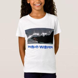 波のパイプラインの女の子のベビードールのTシャツを作って下さい Tシャツ