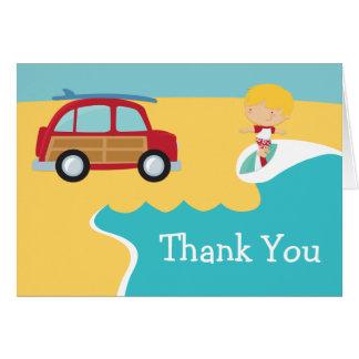 波のビーチの誕生会は感謝していしています カード