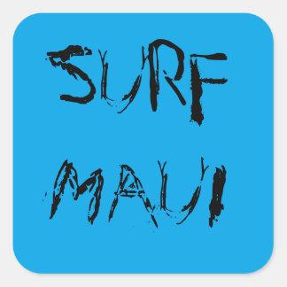 波のマウイのステッカー スクエアシール