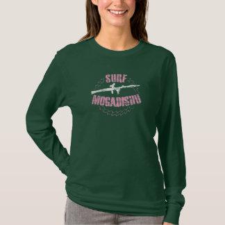 波のモガジショのヴィンテージのグランジなステンシルTシャツ Tシャツ