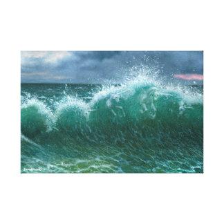 波のユニコーン キャンバスプリント