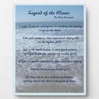 波の伝説-シダのサバンナ; 青いプラク フォトプラーク