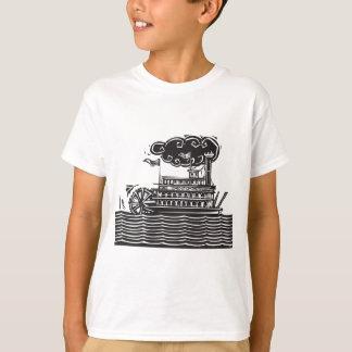 波の厳格な車輪の舟 Tシャツ