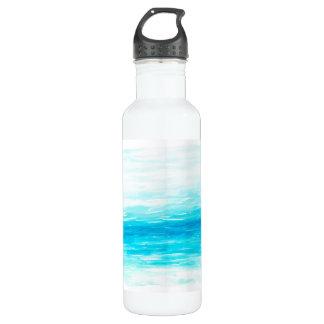 波の水彩画の水差し ウォーターボトル