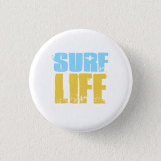 波の生命ビーチのサーファーのスタイル 缶バッジ