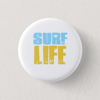波の生命ビーチのサーファーのスタイル 3.2CM 丸型バッジ