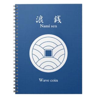 波の硬貨 ノートブック