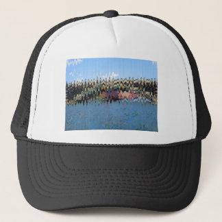 波の青のTシャツ キャップ