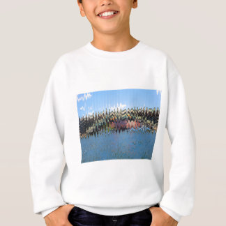 波の青のTシャツ スウェットシャツ
