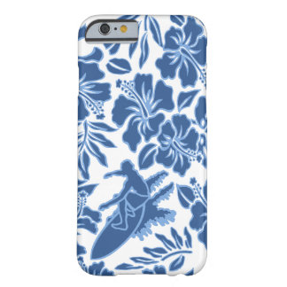 波のPareauのハワイのハイビスカスのサーフィン Barely There iPhone 6 ケース