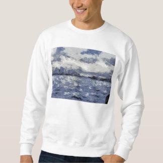 波は曇った日に膨れます スウェットシャツ